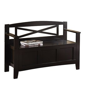 Metro Entry Way Bench in Black by Office Star Image