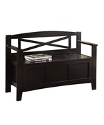 Metro Entry Way Bench in Black by Office Star