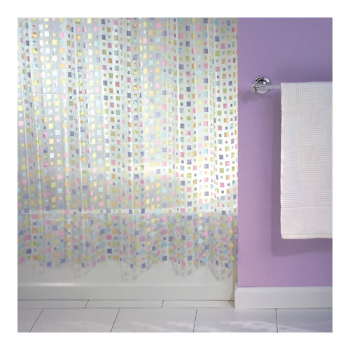 mezzo vinyl shower curtain in shower curtains and rings