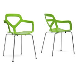 Miami Plastic Modern Dining Chairs (Set of 2) Image