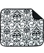 Microfiber Drying Mat - Black Damask