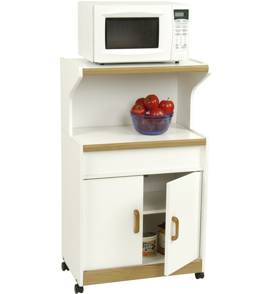 Microwave cart with cabinet in kitchen island carts for Kitchen cabinet shelves