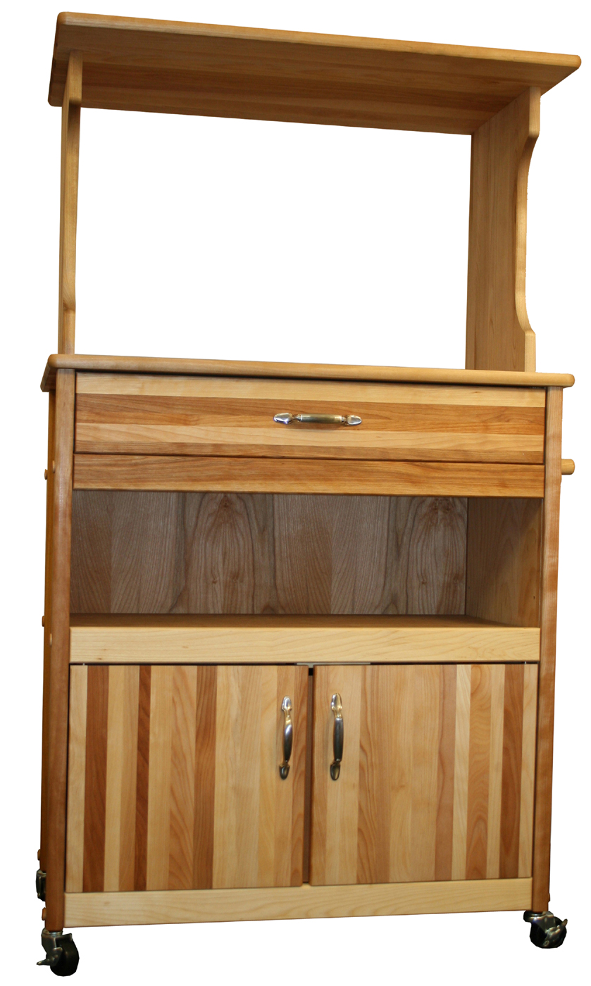 Microwave Cart With Storage In Kitchen Island Carts