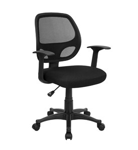 Mid-Back Black Mesh Computer Chair by Flash Furniture, Mesh Office Chairs - LF-W-118A-BK-GG Image
