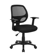 Mid-Back Black Mesh Computer Chair by Flash Furniture, Mesh Office Chairs - LF-W-118A-BK-GG