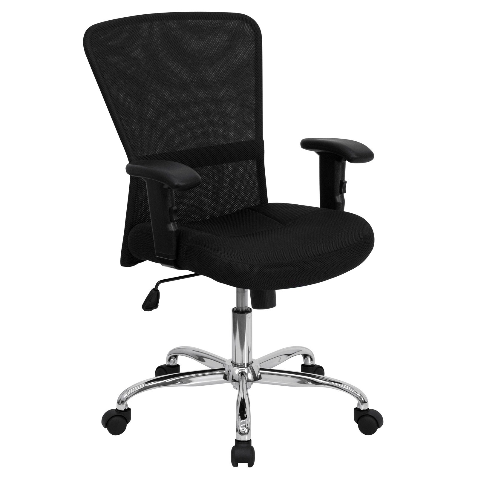 contemporary leather high office chair black. Mid-Back Black Mesh Contemporary Computer Chair By Flash Furniture Price: $149.99 Leather High Office O