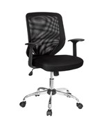 Mid-Back Black Mesh Office Chair by Flash Furniture, Desk Chairs - LF-W95-MESH-BK-GG