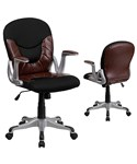 Mid-Back Leather and Mesh Combination Swivel Office Chair by Flash Furniture