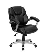 Mid-Back Leather Office Task Chair by Flash Furniture