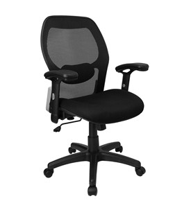 Mid-Back Super Mesh Office Chair by Flash Furniture, Desk Chairs - LF-W42B-GG Image