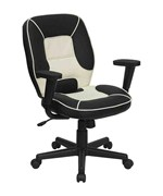 Mid Back Vinyl Steno Executive Office Chair by Flash Furniture  Office Chairs and Desk Chairs   Organize It. Flash Furniture Mid Back Office Chair Black Leather. Home Design Ideas