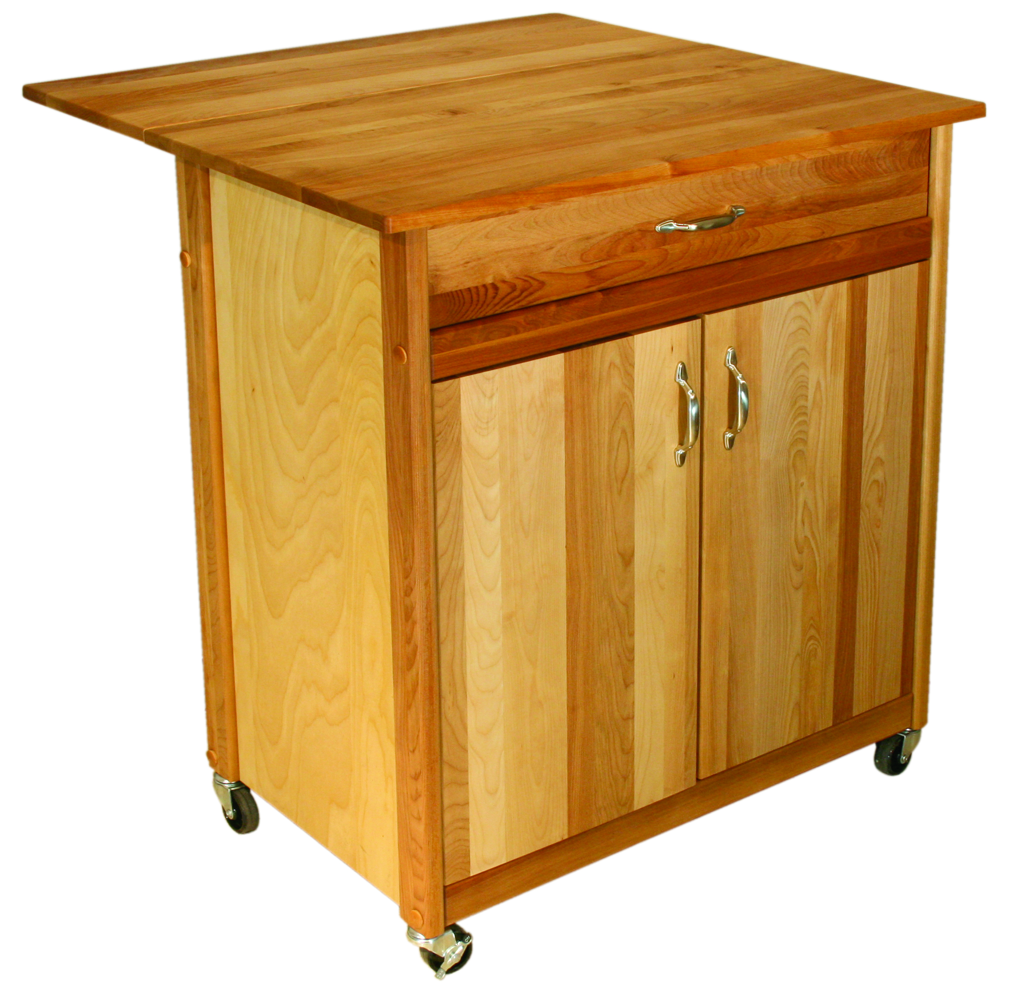 Catskill Kitchen Islands Mid Size Two Door Cart With Drop Leaf By Catskill