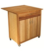 Mid-Size Two Door Cart with Drop Leaf by Catskill Craftsmen