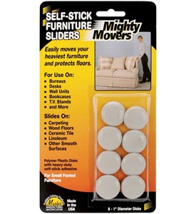 Mighty Movers Self-Stick Furniture Sliders (Set of 4) Image