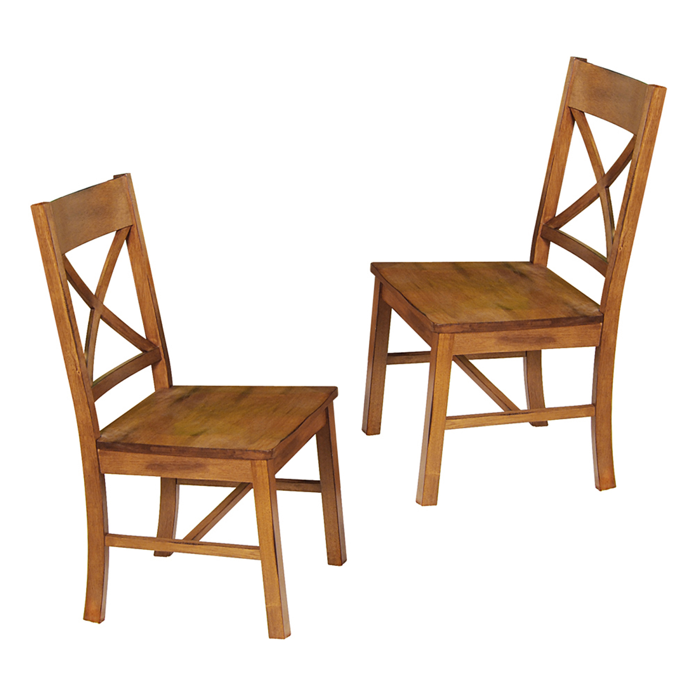 Wood Dining Chairs Antique Brown Set Of 2 In Dining Chairs