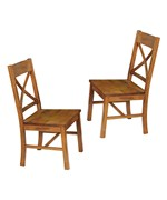 Wood Dining Chairs - Antique Brown