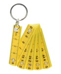 Mini Folding Ruler Key Chain