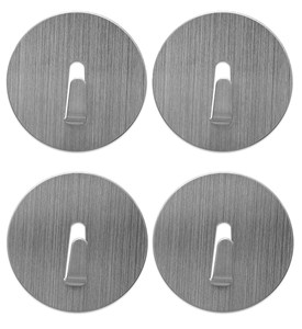 Mini Magnetic Storage Hooks - Stainless Steel (Set of 4) Image