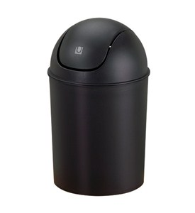Mini Swing-Top Trash Can - Black Image