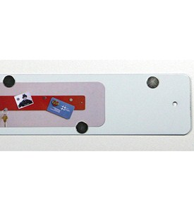 Mini Magnetic Strip Bulletin Board - White Image