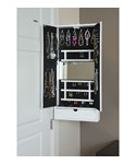 Mirrored Jewelry Cabinet - Hinge Mounted