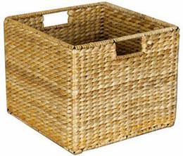Wicker Storage Cube In Wicker Baskets