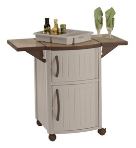 Mobile Serving Station Patio Cabinet Image