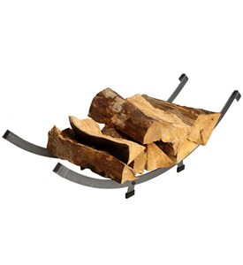Modern Arch Firewood Rack Image