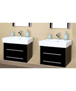 Modern Double Wall Mount Style Sink Vanity by Bellaterra Home