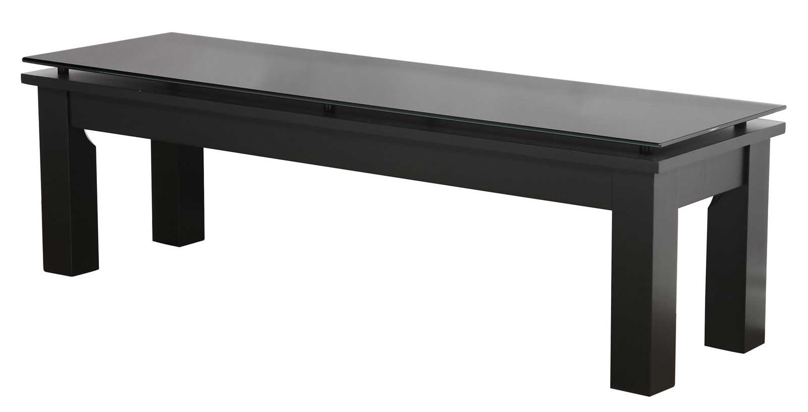 Modern Glass Top Rectangular Coffee Table In Coffee Tables
