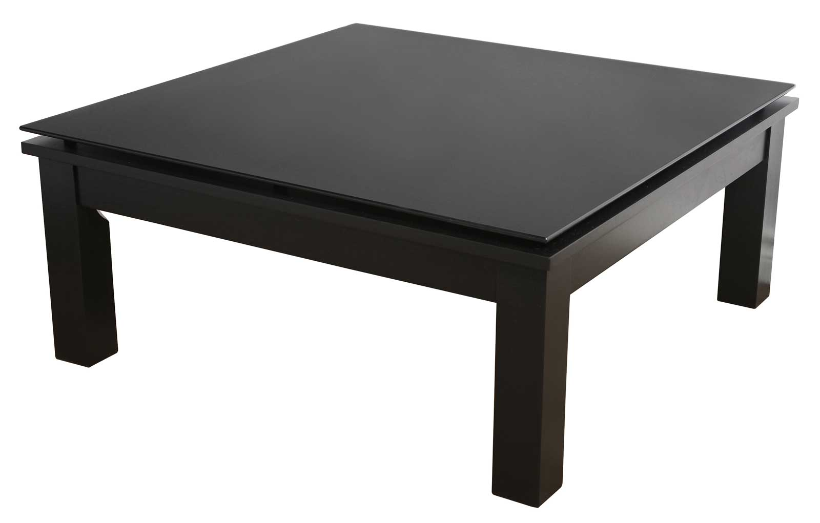 Modern Glass Top Square Coffee Table In Coffee Tables