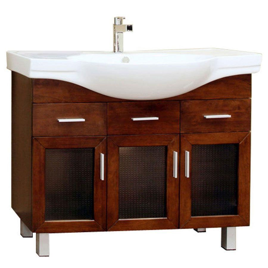 Modern single sink vanity cabinet in bathroom vanities for Modern bathroom sink and vanity