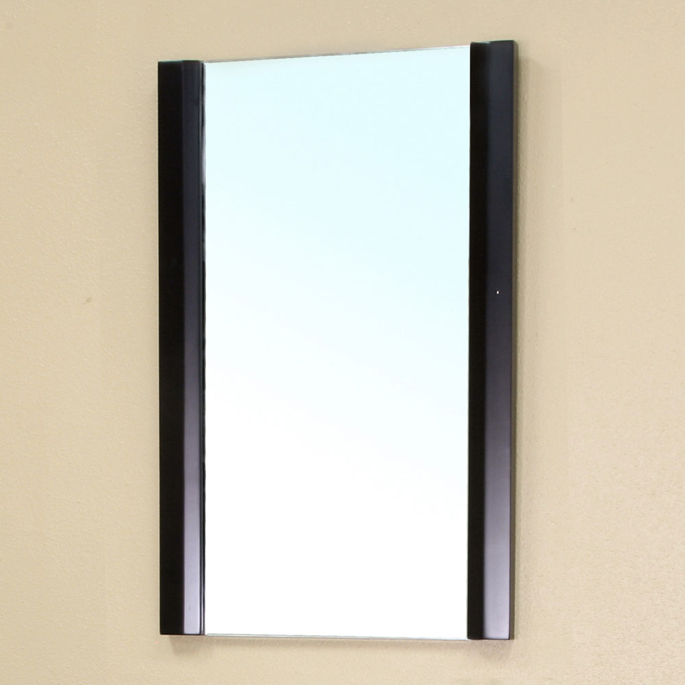 Modern solid wood frame mirror by bellaterra home in for Home mirrors