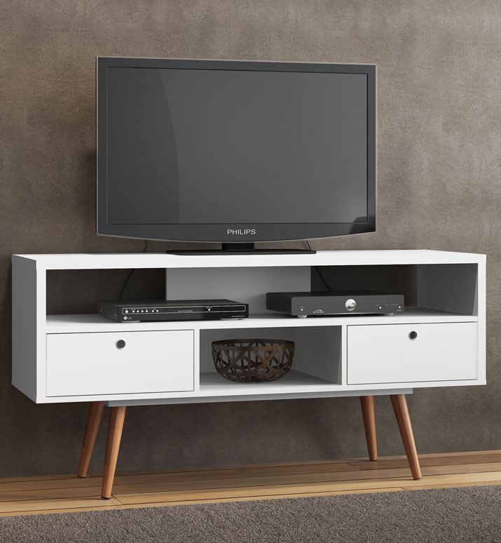 modern white tv stand in tv stands. Black Bedroom Furniture Sets. Home Design Ideas