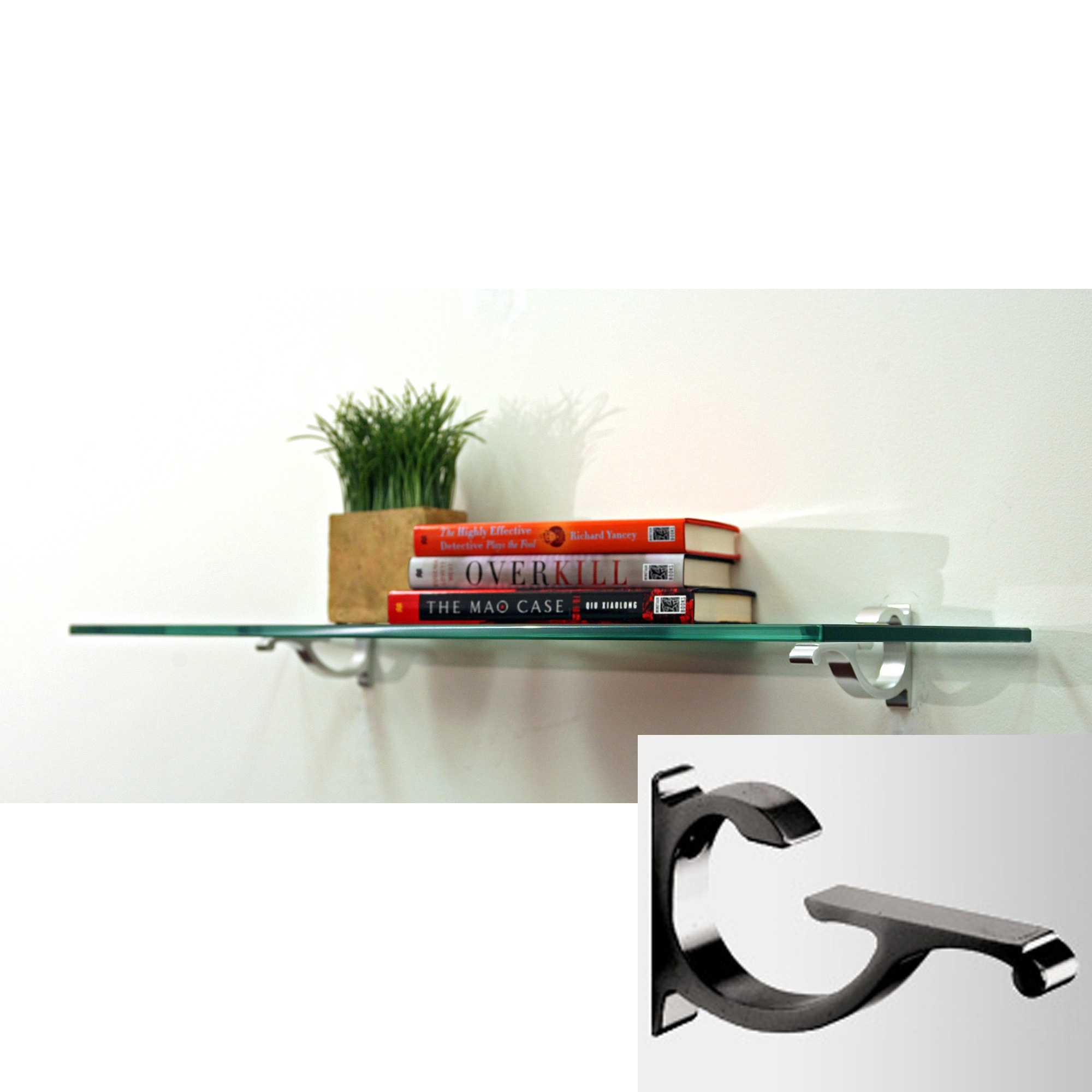 glass wall shelf 12 inch deep in wall mounted shelves. Black Bedroom Furniture Sets. Home Design Ideas