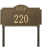 Monogram Estate Lawn Address Sign