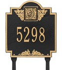 Monogram Lawn Address Plaque