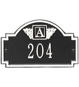 Monogram Petite Address Plaque Image