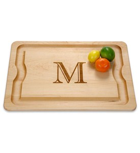 Monogrammed Cutting Board with Liquid Groove Image