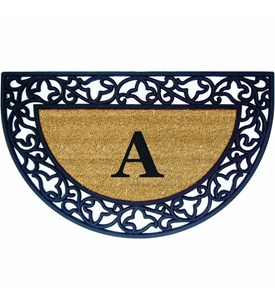 Monogrammed Welcome Mat - Acanthus Image