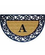 Monogrammed Welcome Mat - Acanthus
