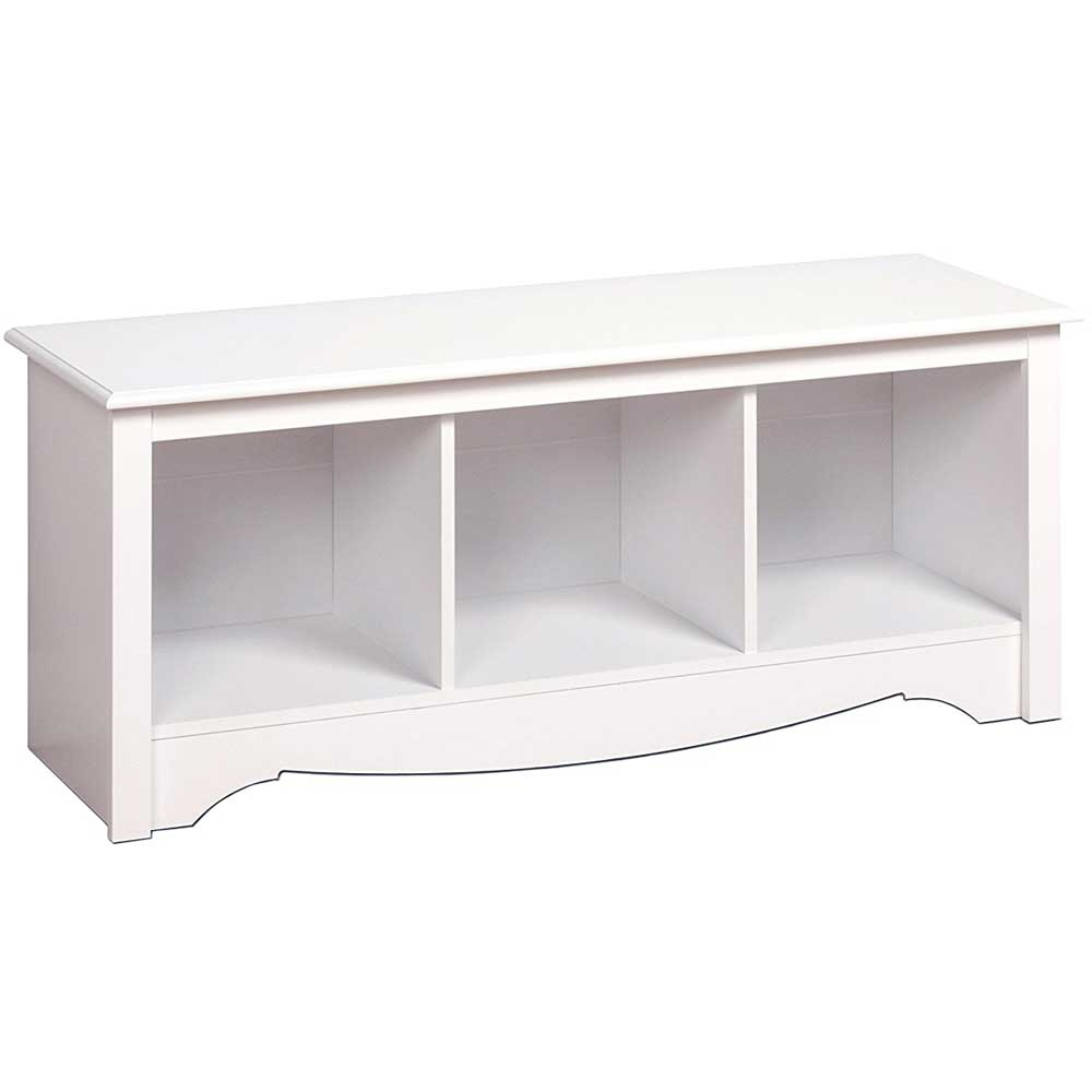 Monterey Cubbie Bench White In Storage Benches