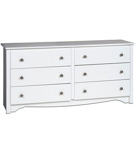 Monterey Six-Drawer Dresser - White Image