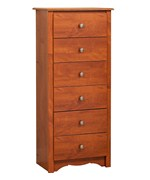 Monterey Six-Drawer Lingerie Chest - Cherry