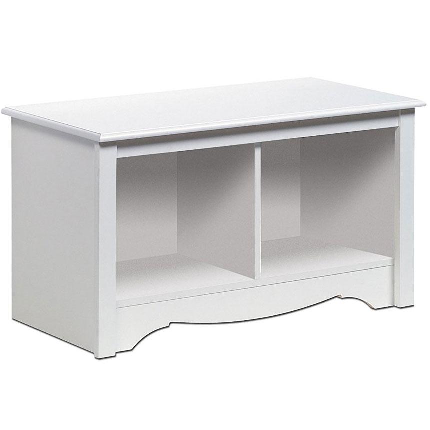 Monterey Twin Cubby Storage Bench White In Storage Benches