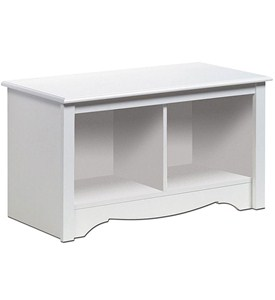 Monterey Twin Cubby Storage Bench - White Image