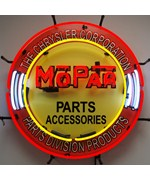 Mopar Circle Neon Sign with Silkscreen Backing by Neonetics
