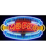Mopar Vintage Shield Neon Sign by Neonetics