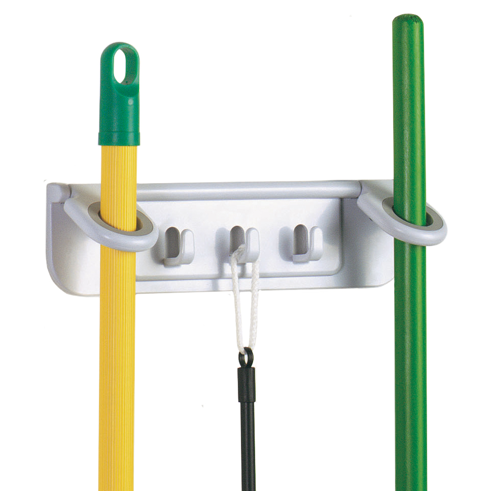 mop and broom organizer image - Broom Holder