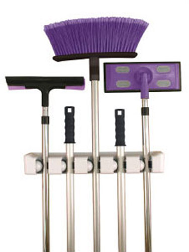 Five Slot Magic Mop And Broom Holder In Broom And Mop Holders